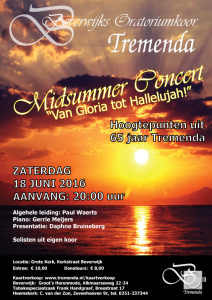 Tremenda concertflyer